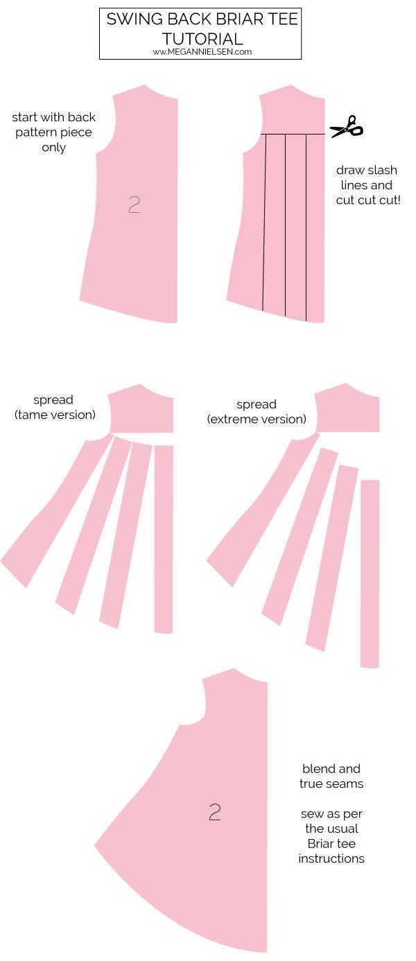 How to make a swing back Briar tee / Megan Nielsen Design Diary