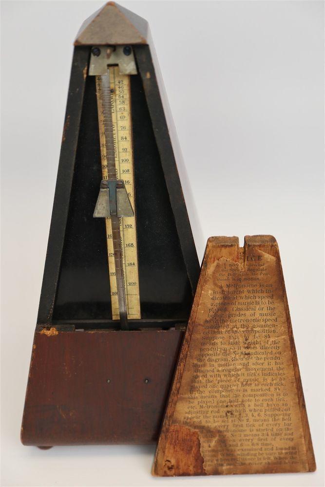 Vintage / Antique Wooden Metronome de Maelzel Music Timer 78256  | eBay