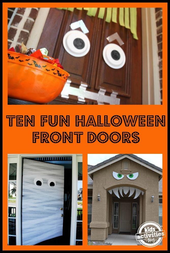 19 best Halloween decor images on Pinterest Halloween decorations - decorating front door for halloween