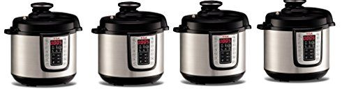 T-fal CY505E vhPhtF, 12-in-1 Programmable Electric Pressure Cooker with 25 Built-In Smart Programs / Ceramic Nonstick Cooking Pot and Stainless Steel Housing 1000-Watts, 4Pack 6.3-Quart