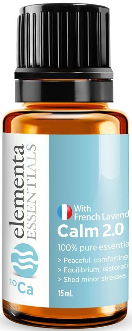 Calm 2.0 - Essential Oil Blend 15ml(Comparable to DoTerra Serenity and Young Living Peace and Calming) Reduces Feelings of Stress, Anxiety and Agitation Now with French Lavender -- Review more details here : NOW essential oils