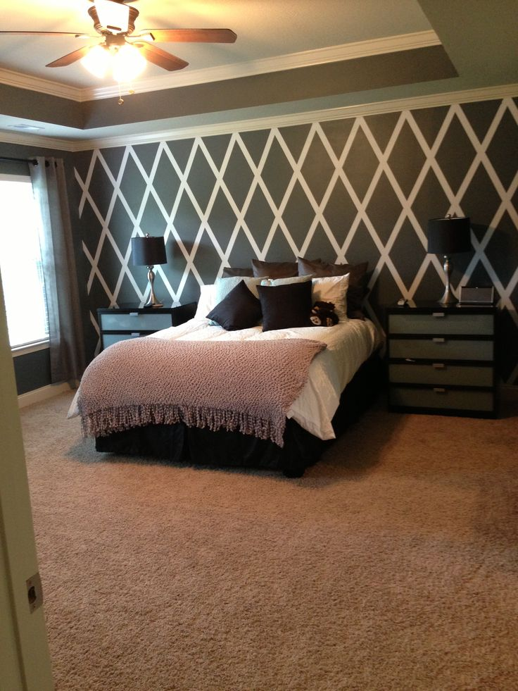 Accent Wall Diamond Paint Design Nursery Pinterest