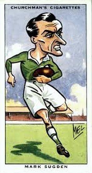 Churchman's Cigarette Card - Irish Rugby, Mark Sugden