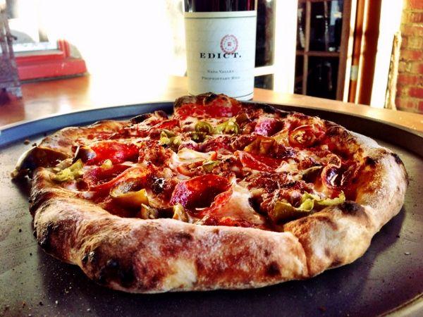 Wood-Fired Pizza #recipe by Dana Commandatore | Guest Postcard