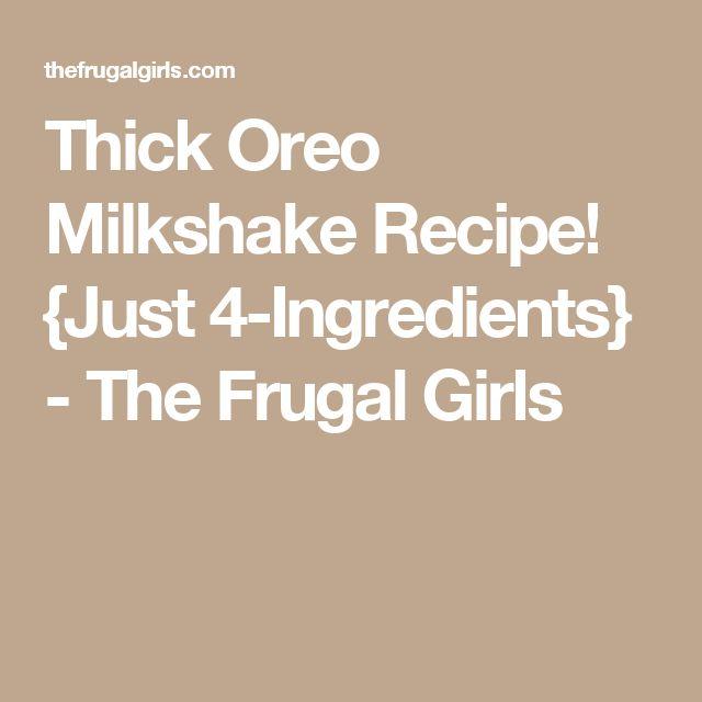 how to make thick oreo shake