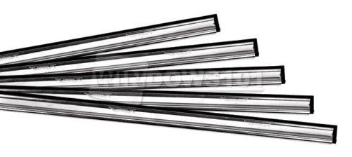 Ettore Stainless Steel Channel w/ Rubber for Window Washing & Cleaning Squeegee