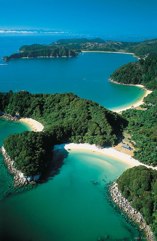 Abel Tasman National Park, both in the Southern Island, New Zealand