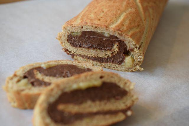 RULLTÅRTA MED CHOKLADKRÄM & BANAN (utan gluten, vitt socker eller mjölk – PALEO + LCHF) – Organic By Mommy