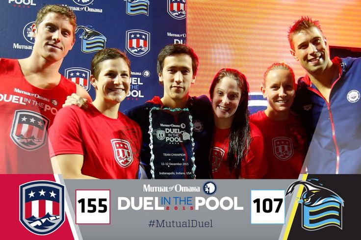 Team USA is killing it at the Mutual of Omaha Duel in the Pool! I'm so looking forward to next Summer's Rio Olympics. #MutualDuel