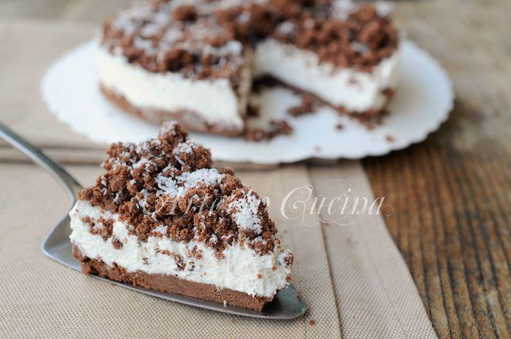 Sbriciolata+cocco+e+ricotta+al+cacao+torta+fredda