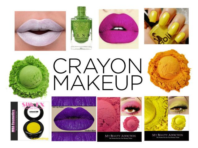 """""""Crayon-Inspired Makeup"""" by gothicvamperstein on Polyvore featuring beauty and Color"""