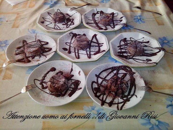 Tortini con cuore di cioccolato fondente ricetta base