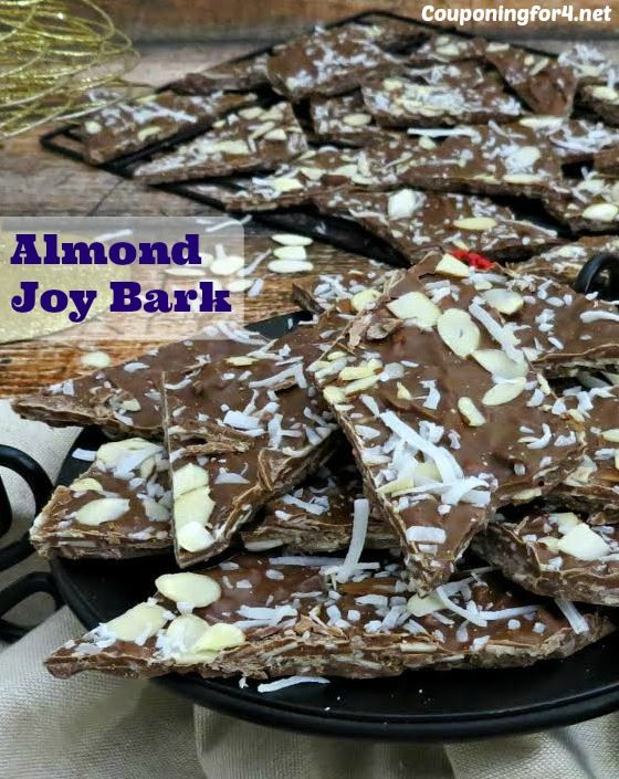 Almond Joy Bark Recipe - this easy recipe will take you only minutes to make and will be the perfect addition to any party or pot luck!