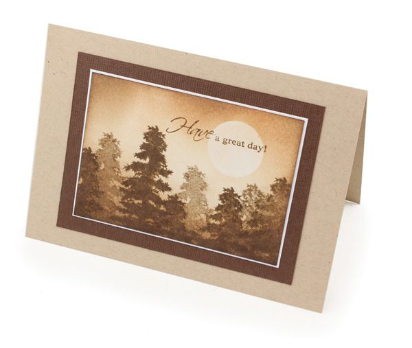 MT428 Distressed Silhouette Trees Card