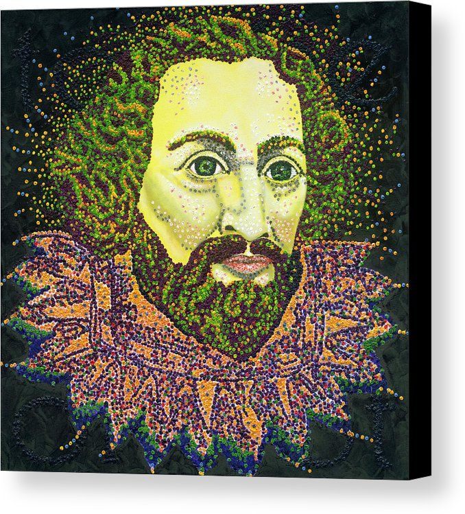 Shakespeare  - canvas print of an original painting by Barry Novis.  www.barrynovis.com