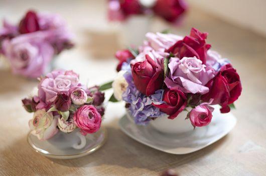 17 best images about flores flowers on pinterest - Decoracion de tazas ...