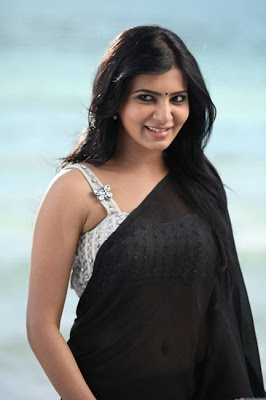 Sexy Samantha - Black Transparent Saree