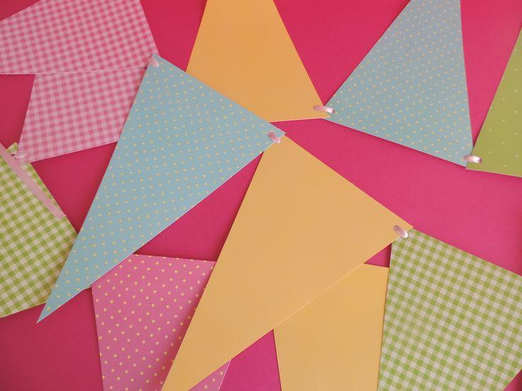Banderín en colores pasteles para Fiesta de Granja