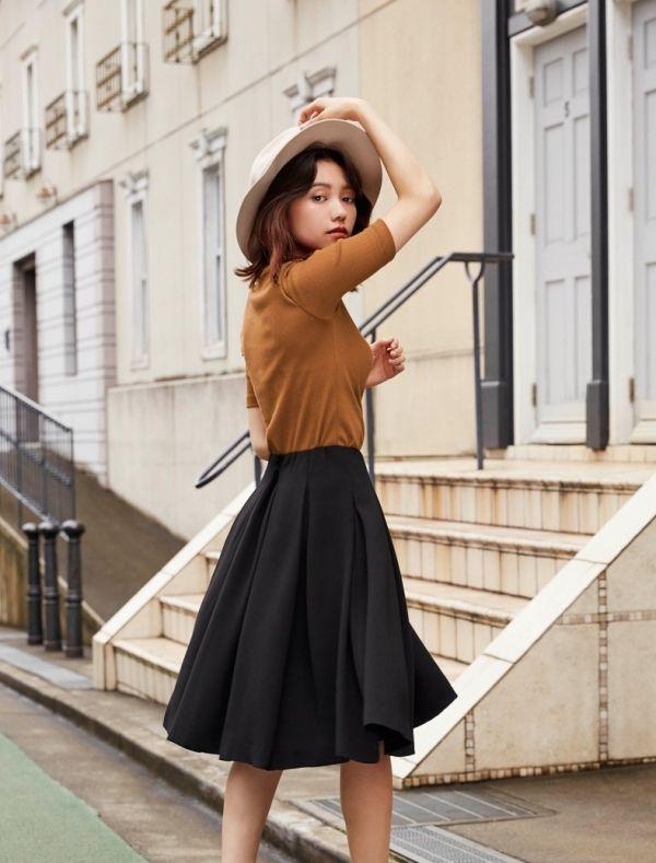 二階堂ふみがハンサムに着こなす、秋の絶品スカート&スカンツ Today's Pick Up ユニクロ