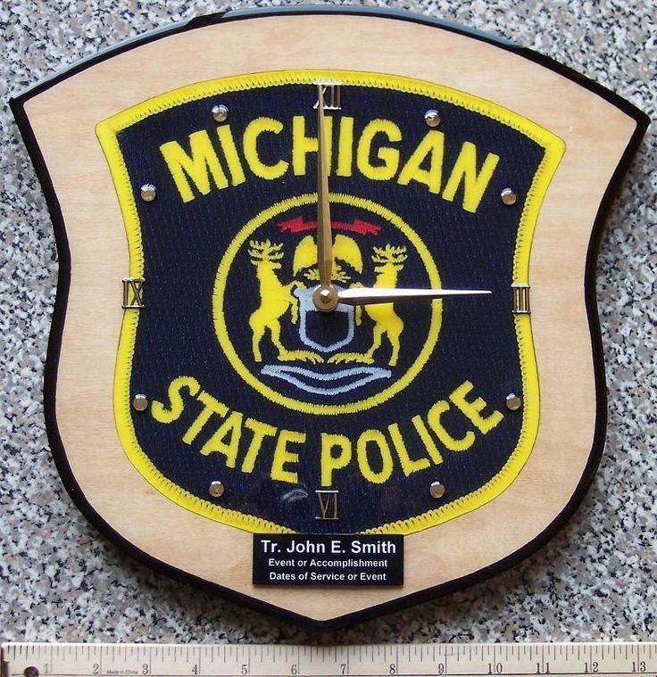 Michigan State Police Clock ... I think youll need to message him my name and what not for the engraving