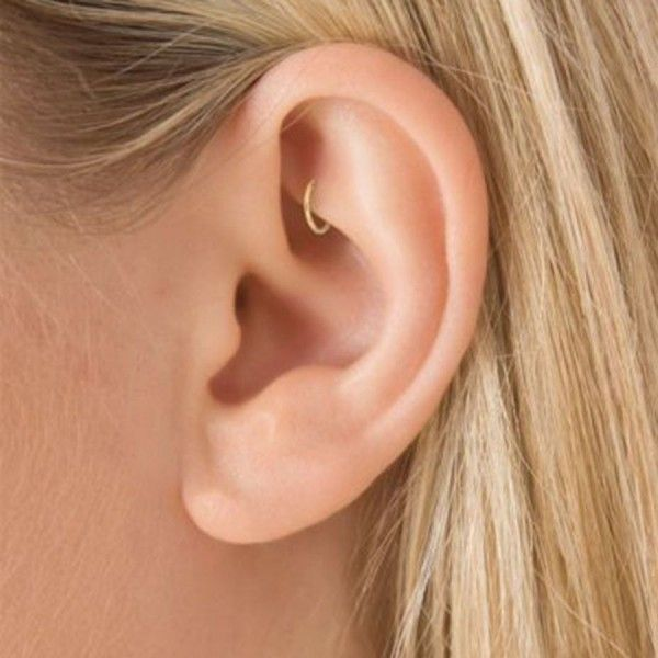 Current trends in piercings on the ear for 2018