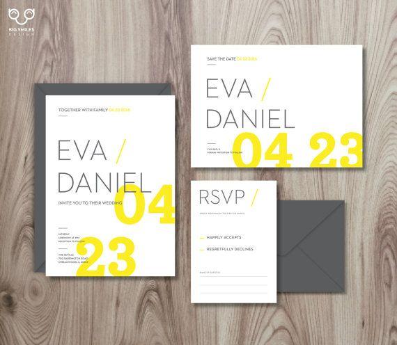 71 best wedding invitations images on pinterest wedding stationery clean minimal typography wedding stationery for modern wedding invitation save the date stopboris Gallery