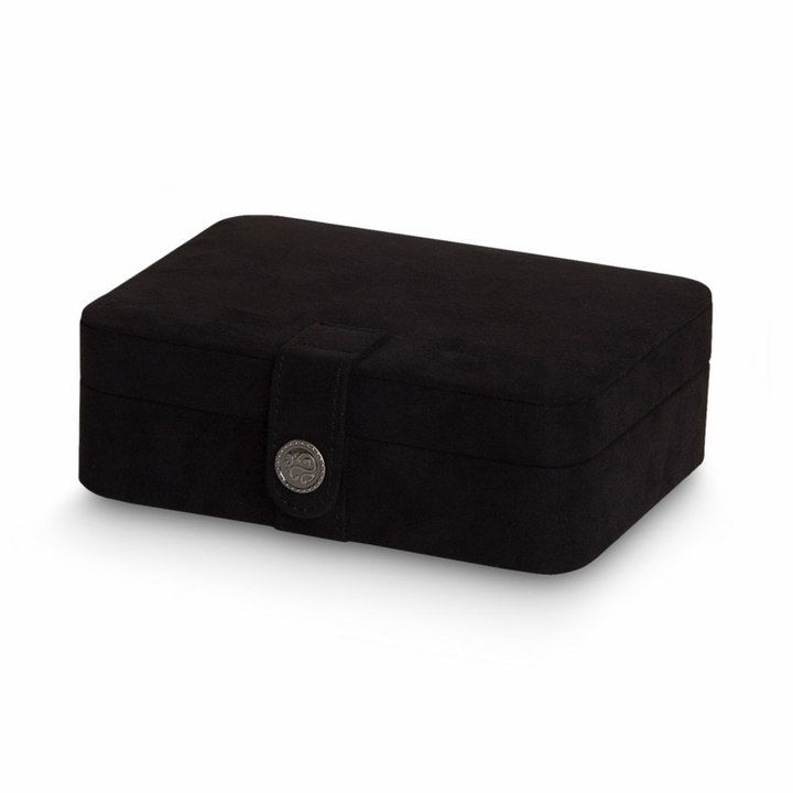 Kohls Jewelry Box Inspiration Mele & Co Plush Fabric Travel Jewelry Box Black  Travel Jewelry Decorating Design
