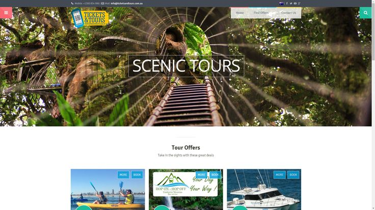 http://ticketsandtours.com.au/tour-offers/ - Look for a tour offer? Maybe a scenic trip around the Gold Coast hinterland or Tamborine Mountain might be on the cards? Well then for the full range of tours, with discount tickets, please check out our special Tour Offers page.