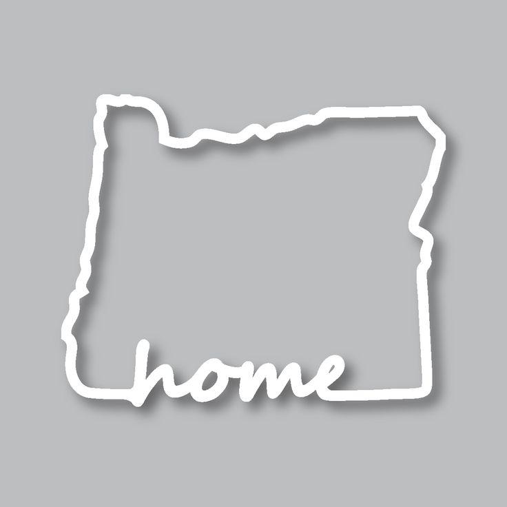 Oregon Home Diecut Sticker