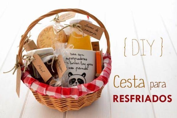 Con una cesta como esta los resfriados se toman con mejor humor. La chica de la casa de caramelo: DIY: Cesta para resfriados