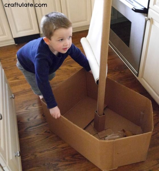 how to make a childerns play boat