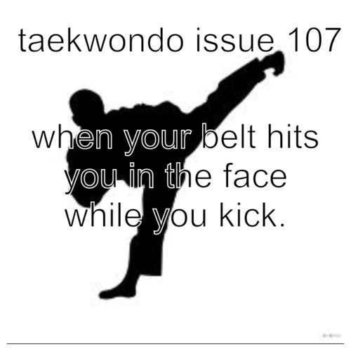 This has only happened with my white belt and my 3rd dan... ten years between those belts, and it's still just as annoying.