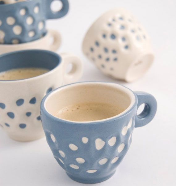 Lovely coffee mugs from IMKAdesign.