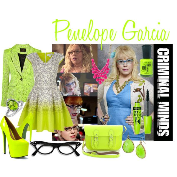 Penelope Garcia by brogy13 on Polyvore featuring Jessica Simpson, Vivienne Westwood Anglomania, The Cambridge Satchel Company, FOSSIL, Blue Nile, Rimmel and Garcia