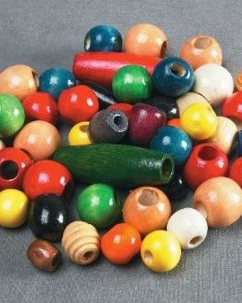 School-Smart-Assorted-Shape-Wood-Beads-12-to-1-inch-Pack-of-460-Assorted-Colors-0