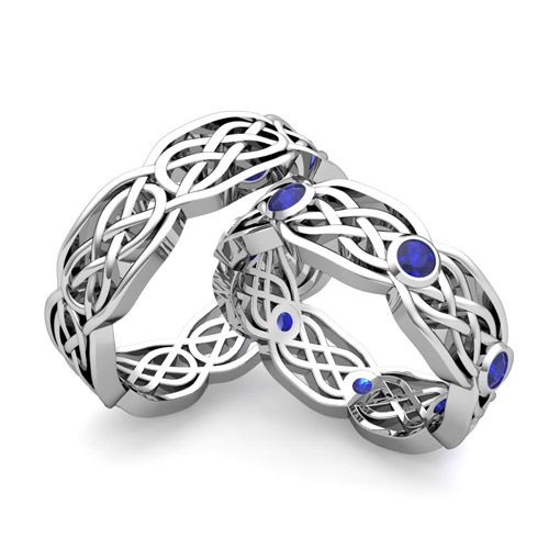 These are the ones Rod. And I ordered except I want diamonds in place of sapphires....SO Excited....can't wait for them to get here....His Her Wedding Band 14k Gold Celtic Knot Sapphire Wedding Ring