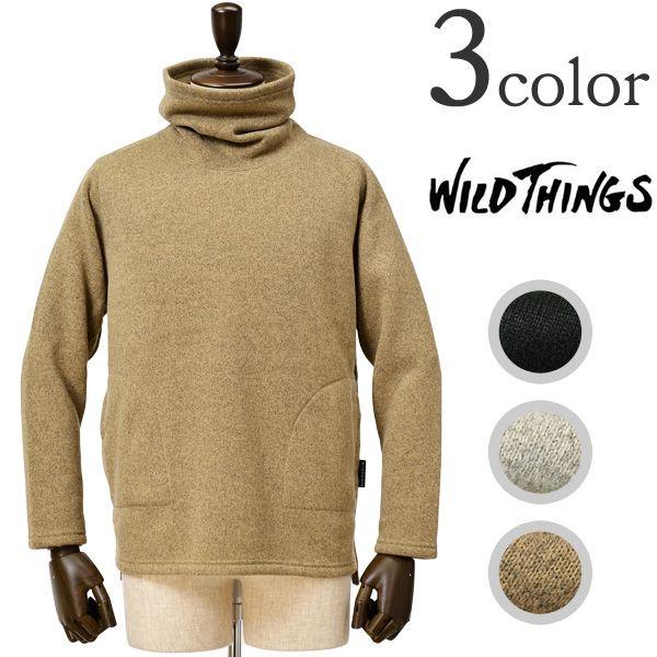 WILD THINGS(ワイルドシングス) ニットフリース タートルトップ タートルネックセーター / KNITFLEECE TURTLE TOP 通販・大阪・堀江での店舗販売