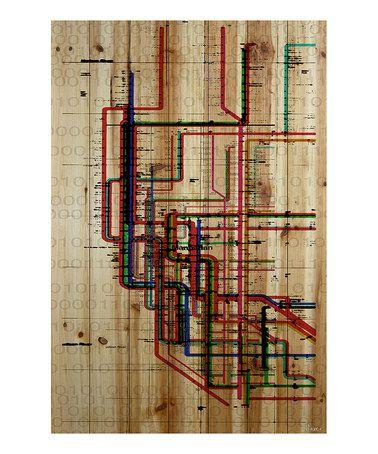 Subway Wood Wall Art