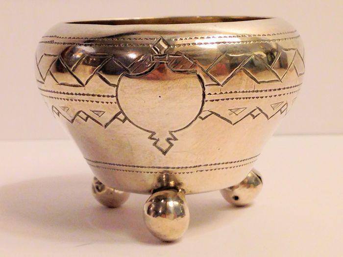 Online veilinghuis Catawiki: Zilveren zoutvaatje, Rusland, Moskou, 1887