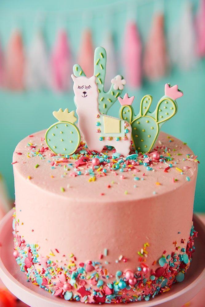 Lucky Llama Cake Birthday Cake Kids Party Cakes 10 Birthday Cake