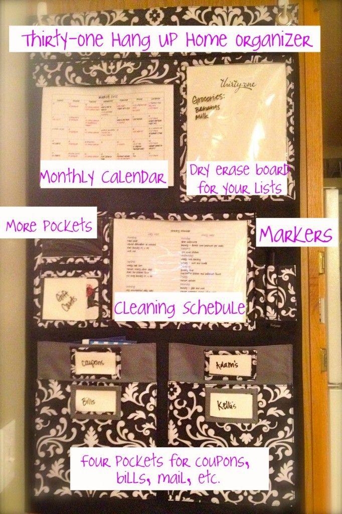 thirtyone hang up home organizer...Order at www.mythirtyone.com/APatrick