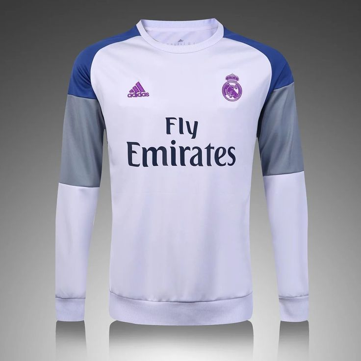 Real Madrid 2016/17 White Long Sleeve Training Top