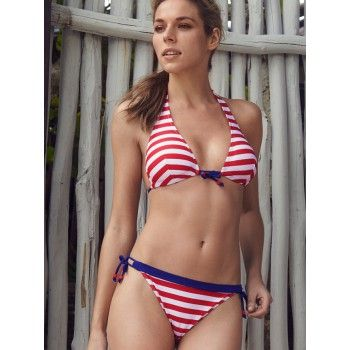 Make a splash in red and white striped Santos!