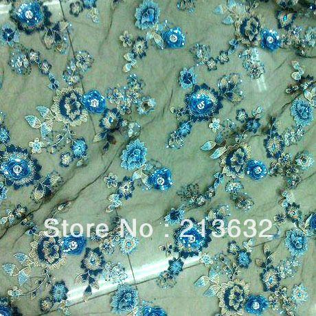 Цветы кристалл французские кружева топ ткани, Шнурок маркизета weddomg платье материал алмаз кружево блестки, Цветок марли вышивка