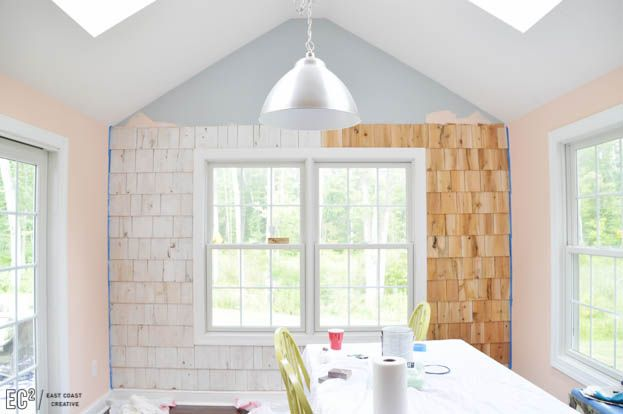 Best Diy Shingle Accent Wall Bedroom Wall Wood Shingles 400 x 300