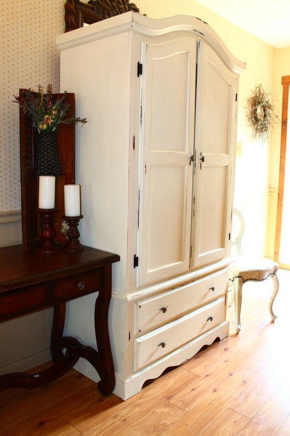 French Country Chalk Paint Armoire Etsy listing at https://www.etsy.com/ca/listing/244567034/french-country-distressed-pine-armoire