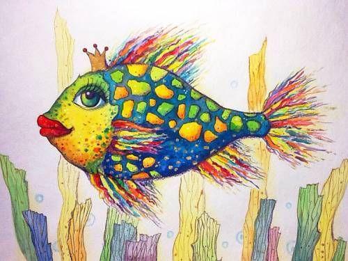 Картины (живопись) : Рыбка Принцесса