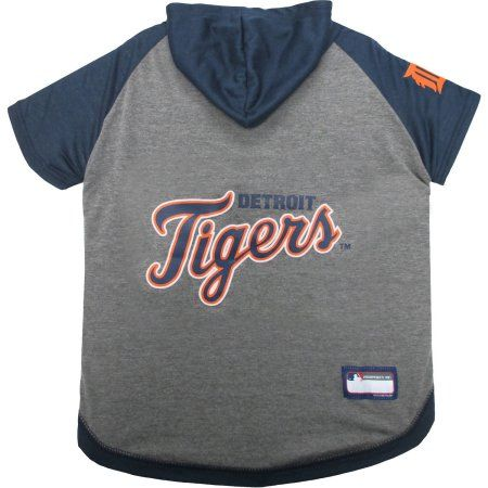 Pets First MLB Detroit Tigers Hoodie Tee Shirt, Multicolor