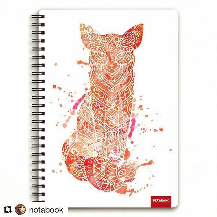 #Repost @notabook  http://notabook.com.ua/index/shop/partners/313 #notabook #scetchbook #блокнот_для_рисования #лиса #принт #узор #акварель #ornaments #fox #watercolor #ornate #an_vino_art #anvino