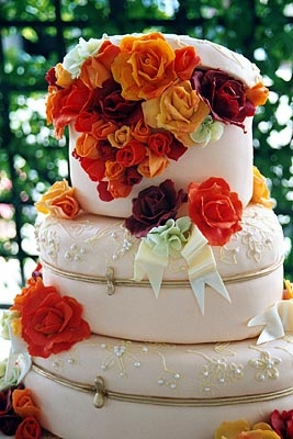 Limoges Boxes with Roses Cake.